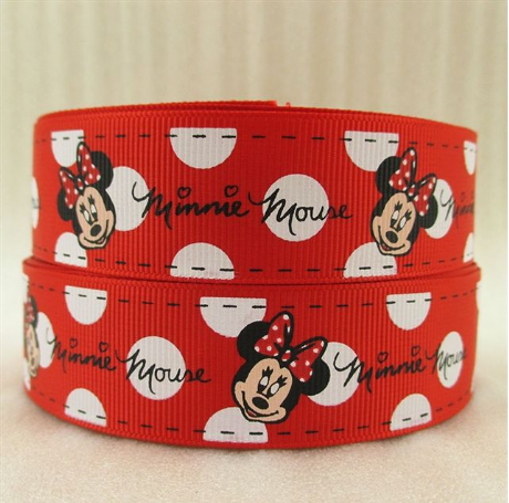 1 METRE MINNIE MOUSE RED + WHITE POLKA RIBBON SIZE 1 INCH BOWS HEADBAND BIRTHDAY CAKE CARD MAKING